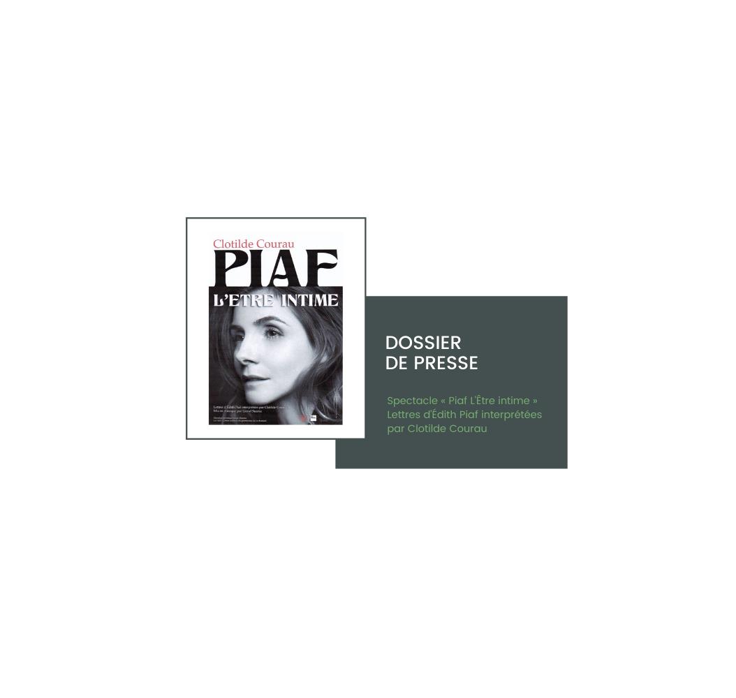 Cecile Maslakian copywriter dossier de presse article clotilde courau piaf etre intime couverture
