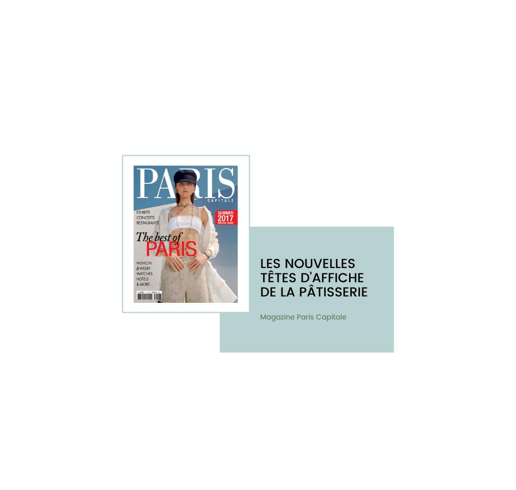 Cecile Maslakian copywriter reportages articles paris capitale chefs PATISSIERS couverture