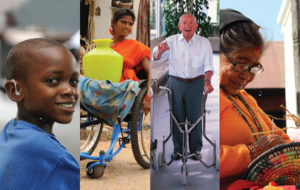 Image of disabled people using Assistive technology