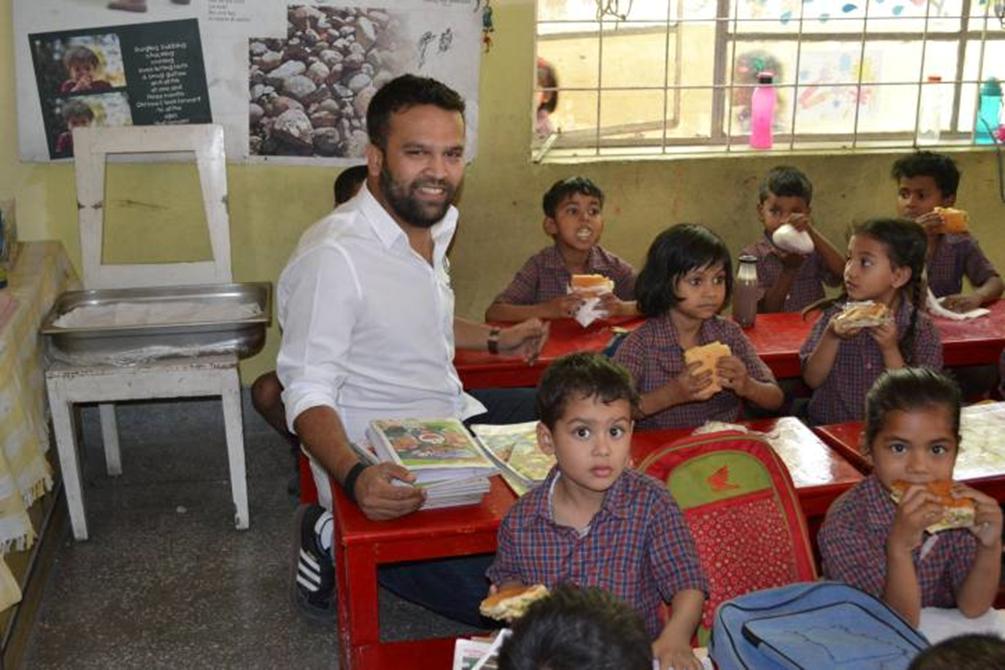Bueno gives Diksha children a Lunch Treat!