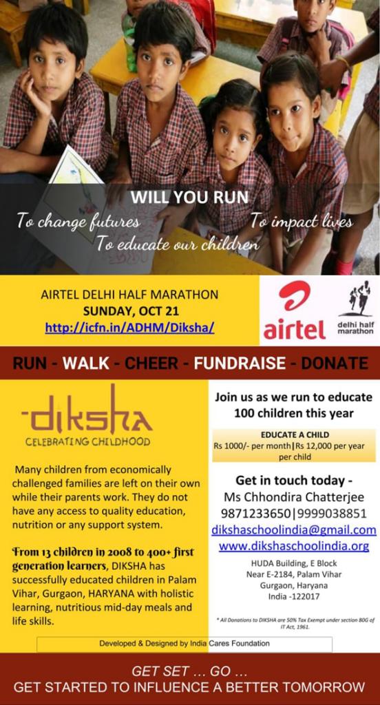 Airtel Delhi Half Marathon – Diksha Participates!