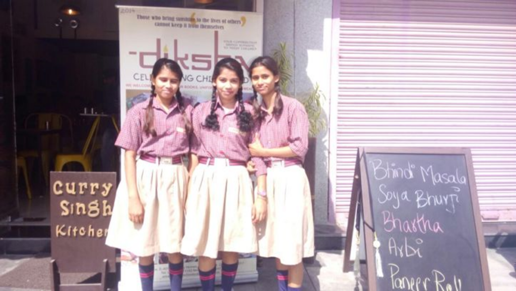 Diksha Children invited to Curry Singh Kitchen by ITC Chef