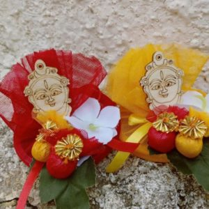 Haldi Kumkum with Bangle & Devi face
