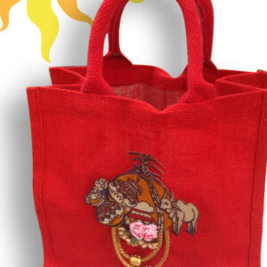 Jute Bag with Sankranthi Patch