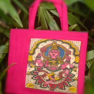 Kalamkari lakshmi devi bag