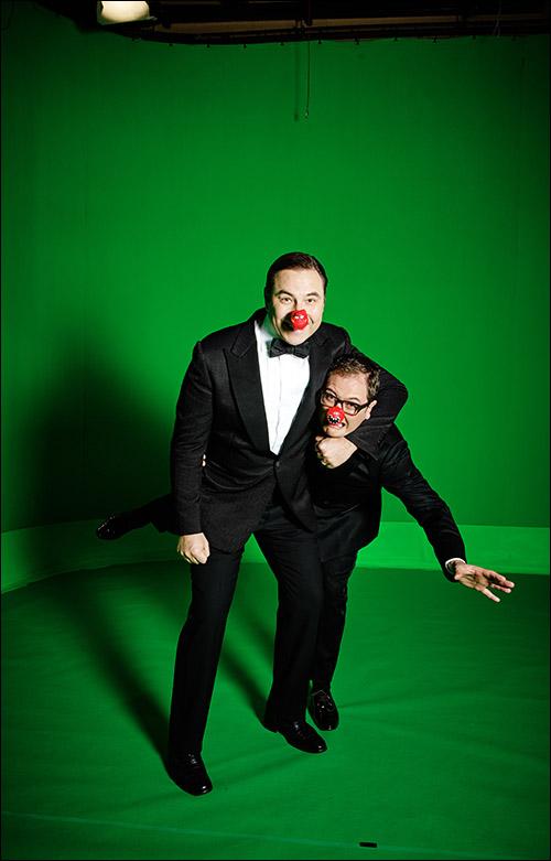 Comic Relief David Walliams and Allan Carr