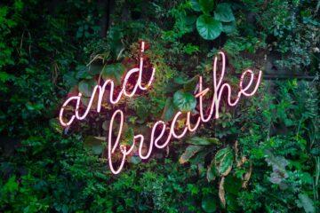 """and breathe"" typography"