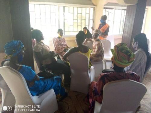 Peer educators training session in Bo