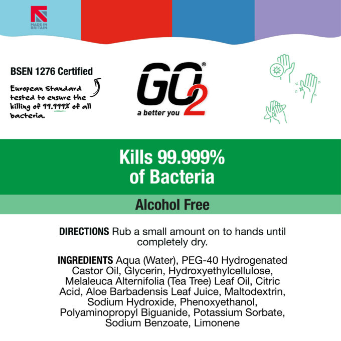 Alcohol Free Hand Gel - 1000ml Go2