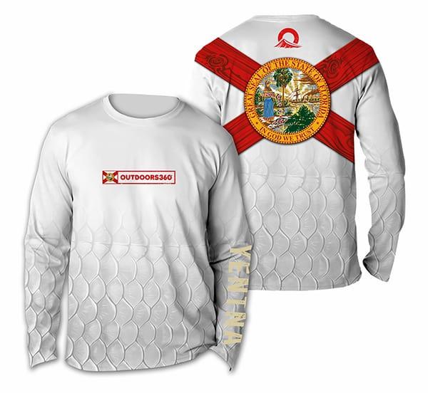 Outdoors360 - Florida Flag Sports Shirt