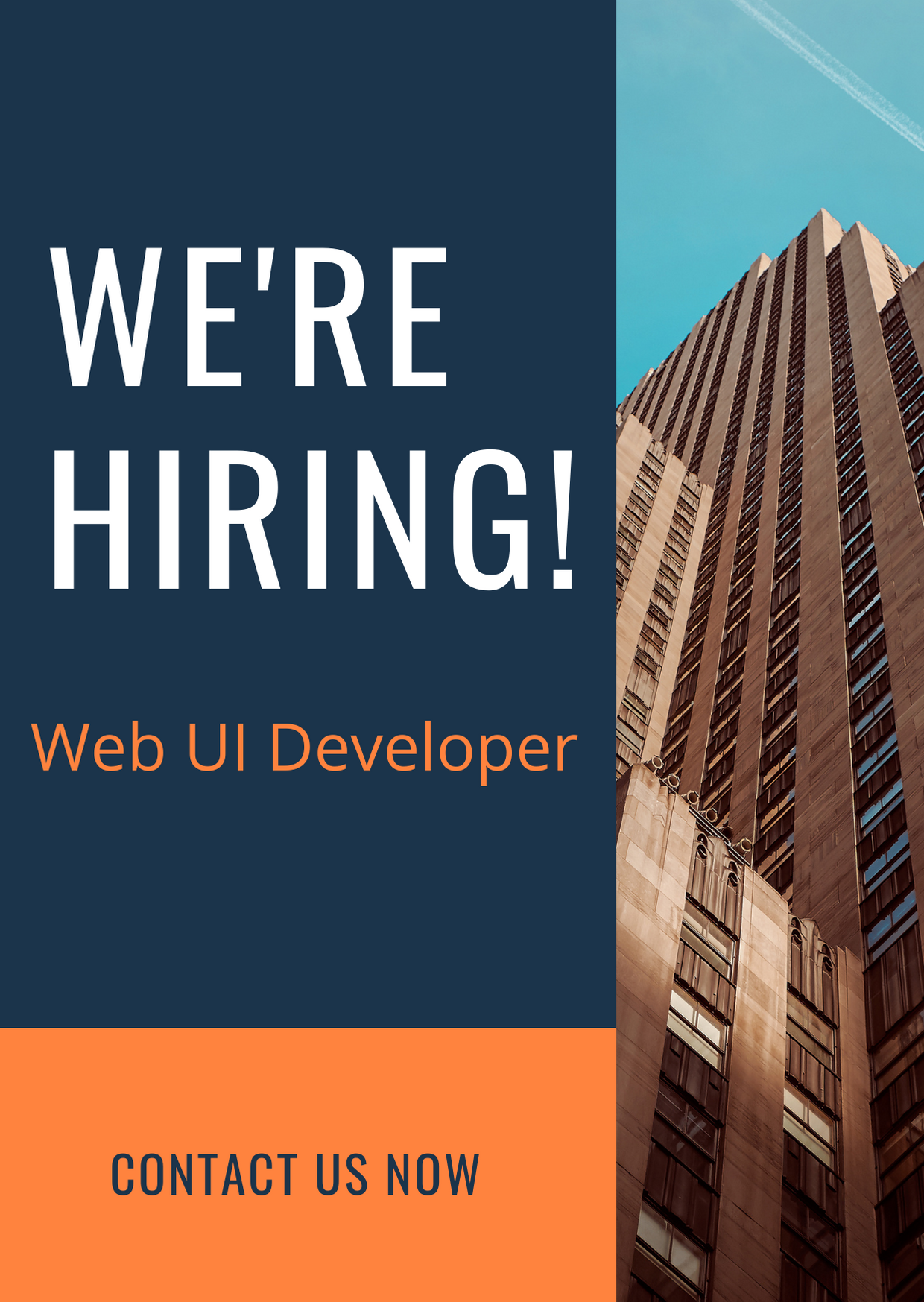 Web UI Developer opening