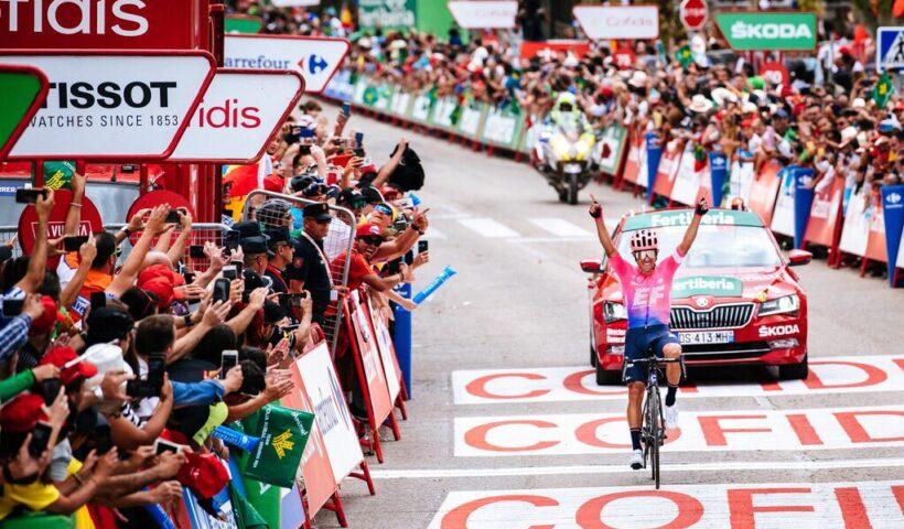 La etapa 18 es la segunda que ganan los colombianos en la Vuelta a España 2019. Foto: Twitter @logansowen