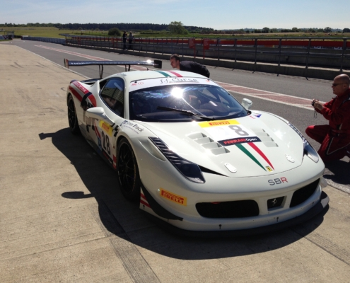SB Race Engineering at snetterton test with 458 in 2012