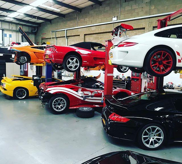 Ferrari servicing..They come in two's!
