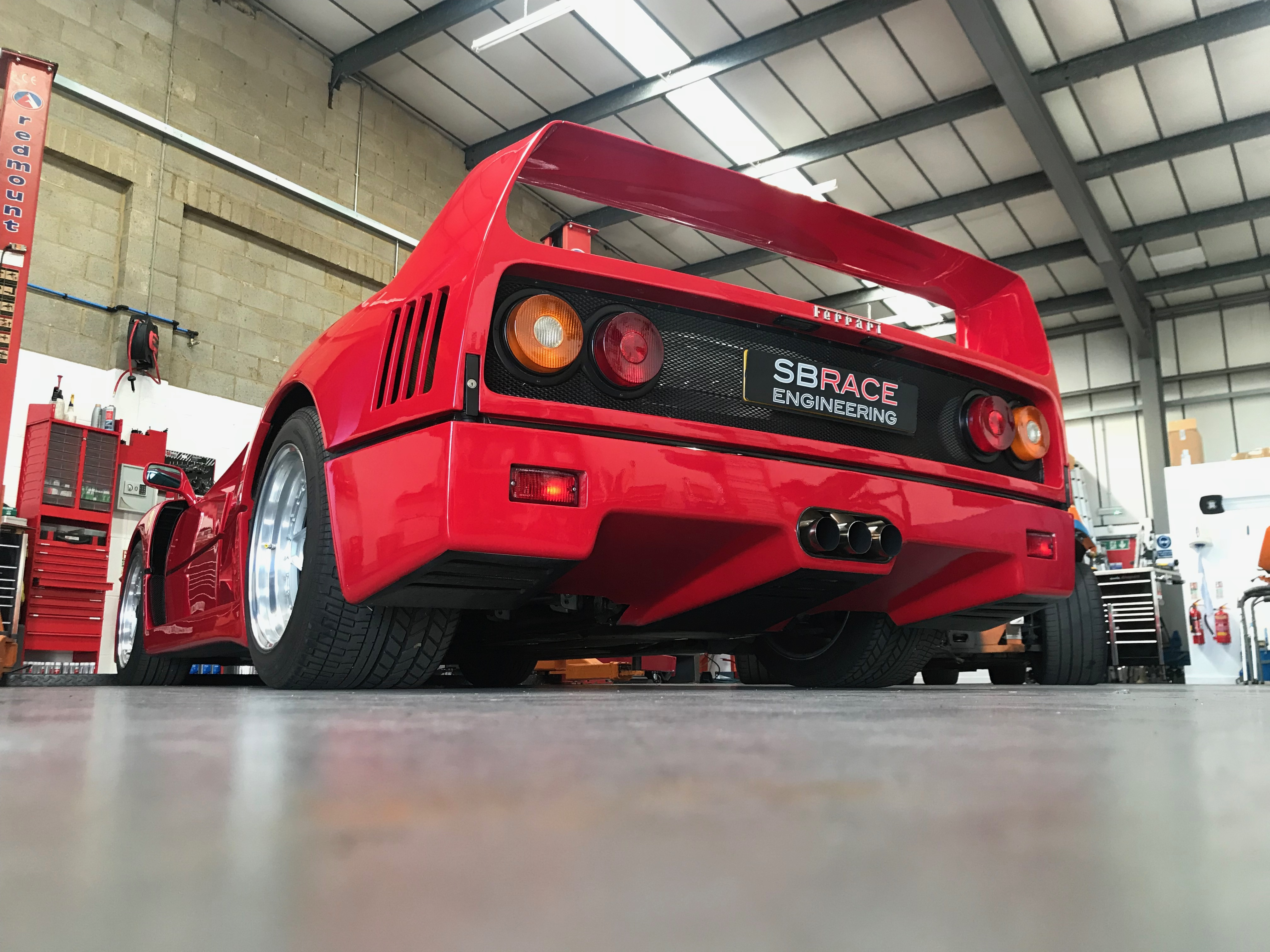 F40.. First car sale at new premises.