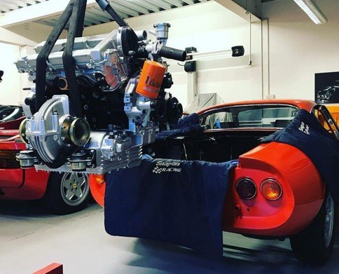 The 246 Receiving its rebuilt engine and gearbox