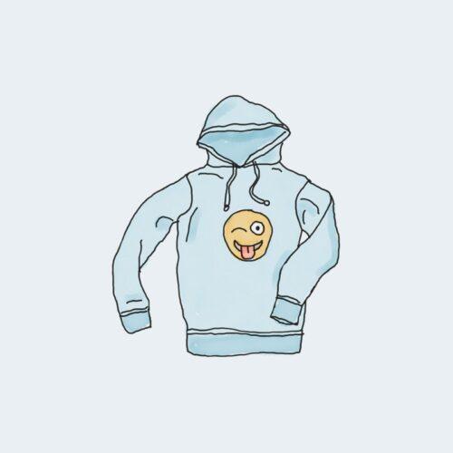 Bleue toy Sweat à capuche avec logo