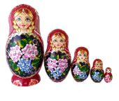 Red toy Nesting doll 5 pieces T2104040