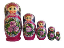 Black, Purple toy Russian 5-piece traditional doll T2104061