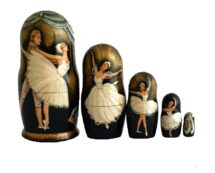 Black toy Original Matryoshkas - Ballet T2104011