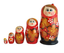 Red toy Red Russian doll  T2104032