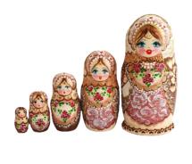 Brown toy Traditional matryoshka T210417