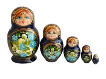 Blue toy Blue nesting doll 5 pieces T2104034