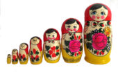 Red, Yellow toy Classic 7-piece nesting doll T2104072