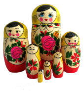 Red, Yellow toy Classic 7-piece nesting doll T2104073
