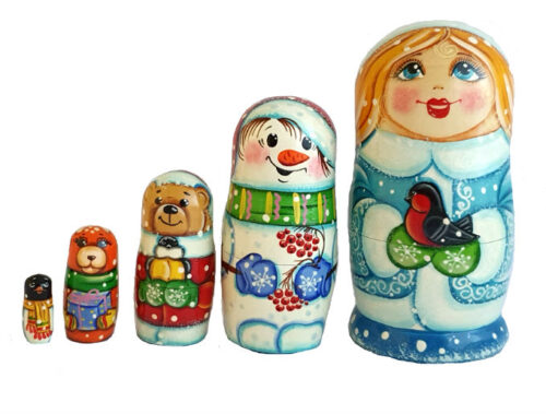 Blue toy Matryoshk