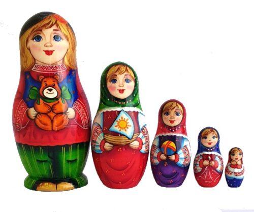 Blue, Green, Red toy Matryoshka-The-Children 2104016