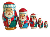 """Red toy Russian doll - """"Santa Claus"""" T2105008"""
