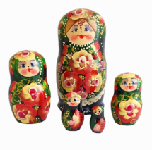Black toy Russian dolls with ladybug T2105023