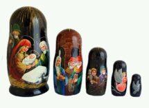 "Black toy Matryoshka - ""The Birth of Christ"" T2105007"