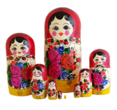 Red, Yellow toy Classic Matryoshka - Traditional (9 pieces) T2104068