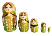 Green toy Traditional matryoshka T2106002