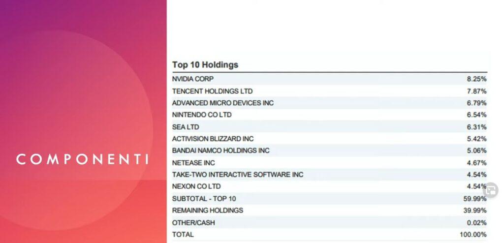 www.copytradingitalia.com - etf gaming - Top 10 Holdings