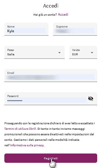 Registrati (Skrill)