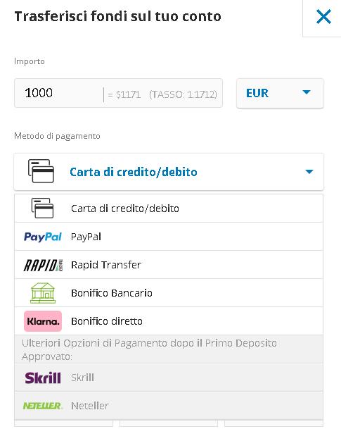 Deposita Fondi