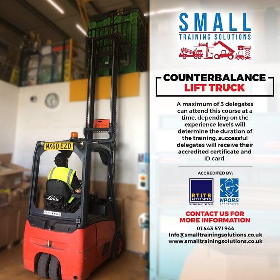 Counterbalance Lift Truck forklift training cardiff swansea merthyr tydfil