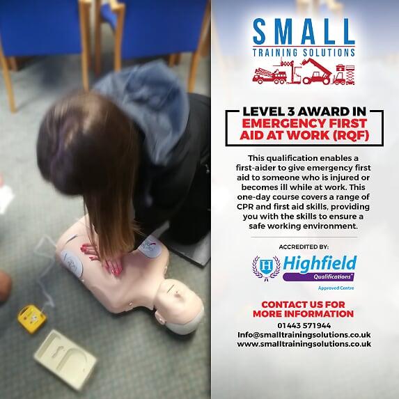 Emergency First Aid at Work course cardiff swansea merthy tydfil