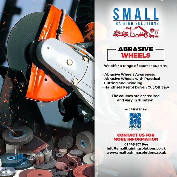 abrasive wheels training cardiff swansea newport merthyr tydfil llanelli