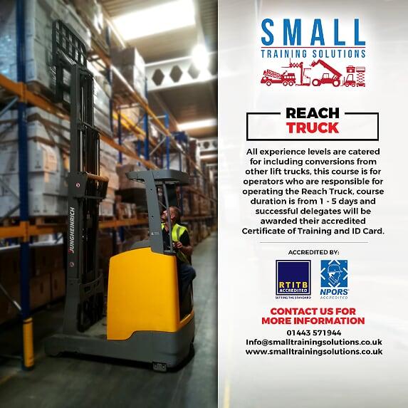 reach truck training cardiff merthyr tydfil swansea newport