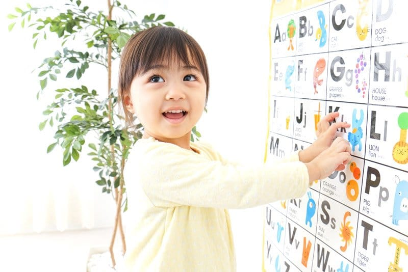 child learning the alphabet