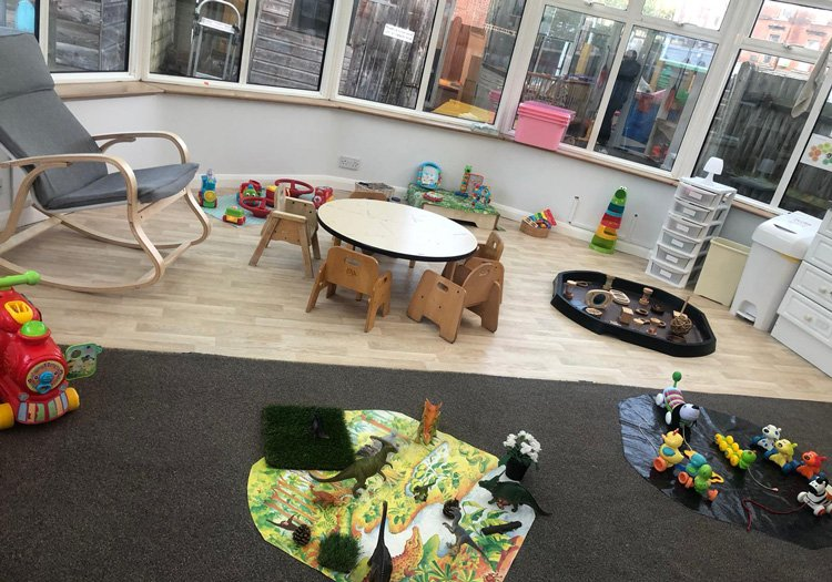 Conservatory with toys for children