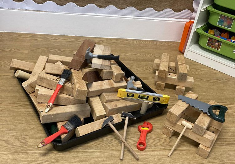 Playroom construction and tools for learning