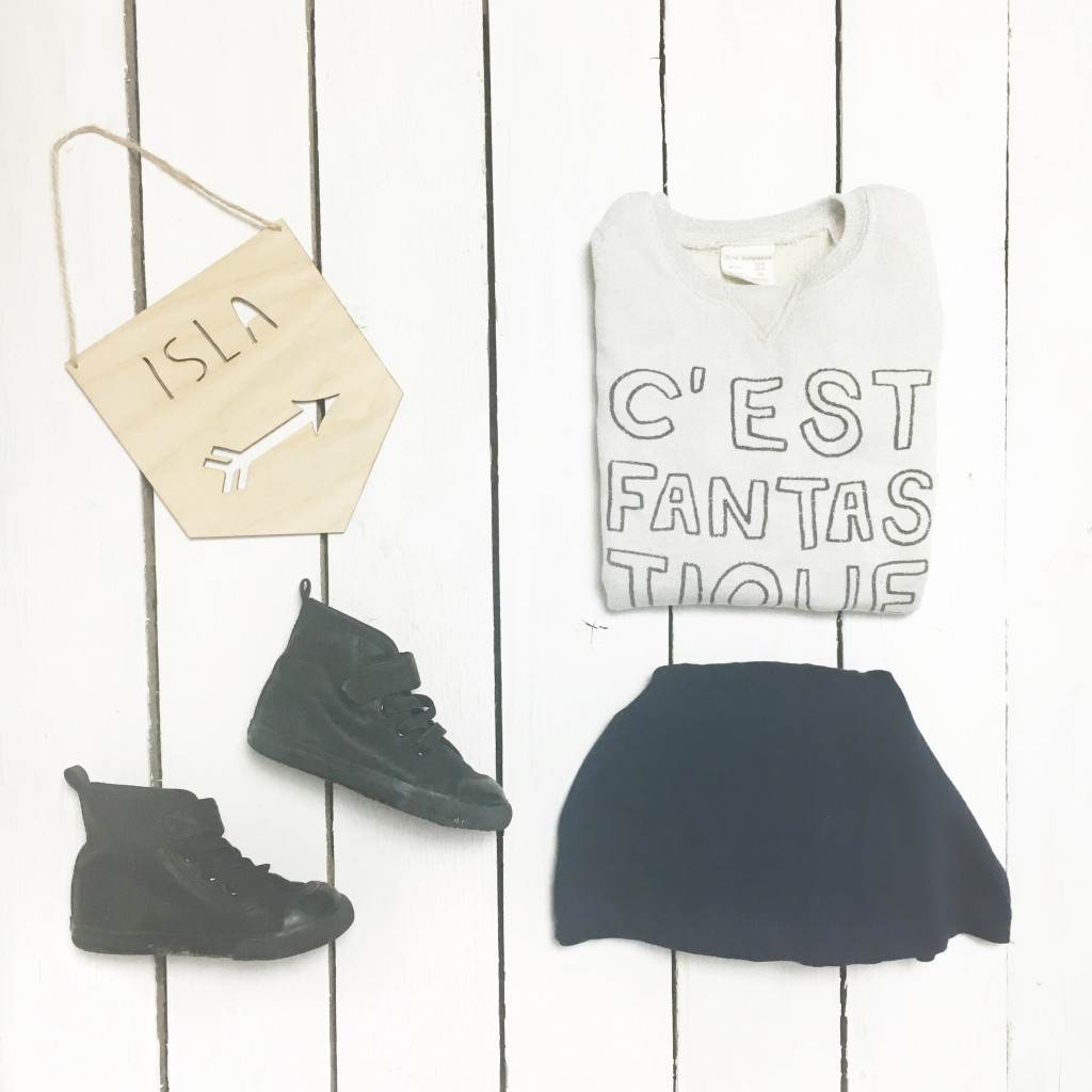 zara baby fashion flatlay