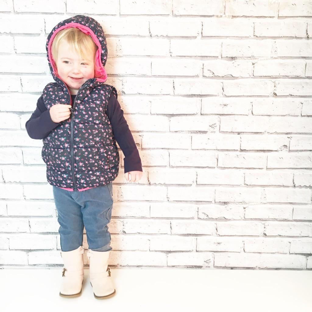 floral gilet toddler fashion