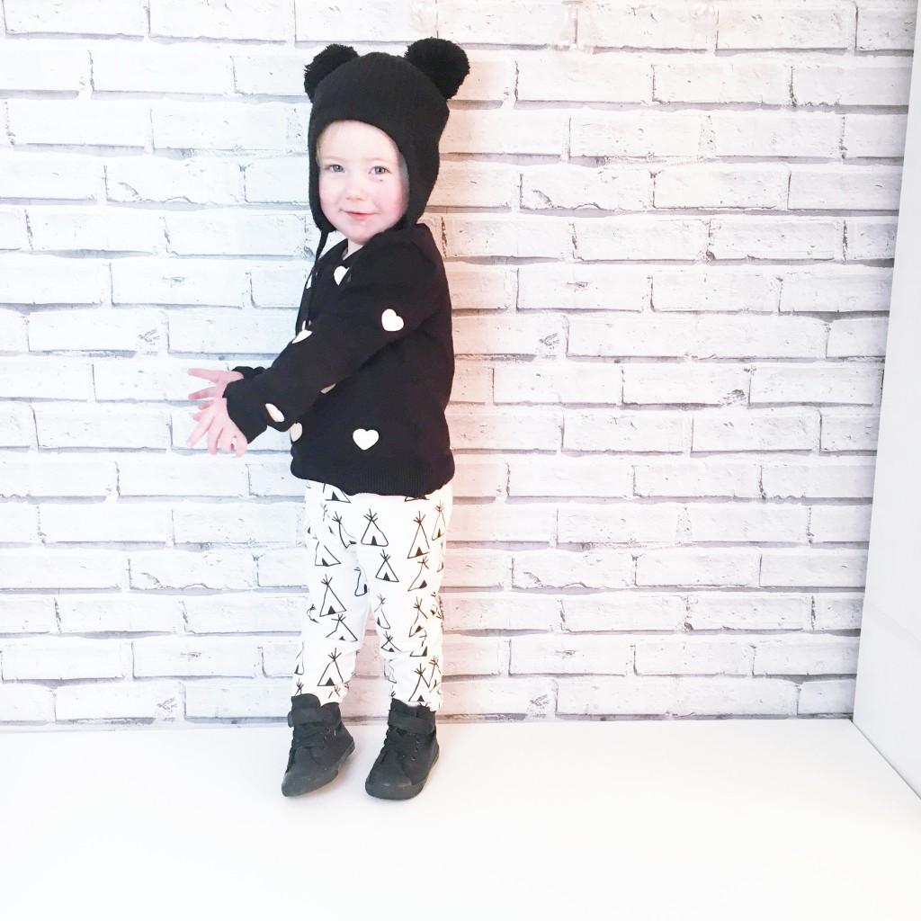 monochrome toddler fashion