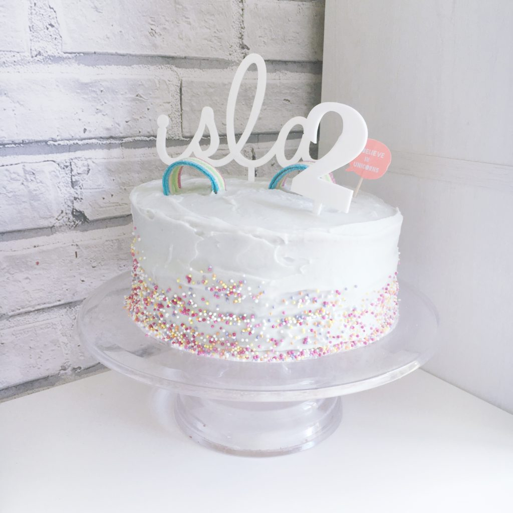 2ns birthday cake rainbow